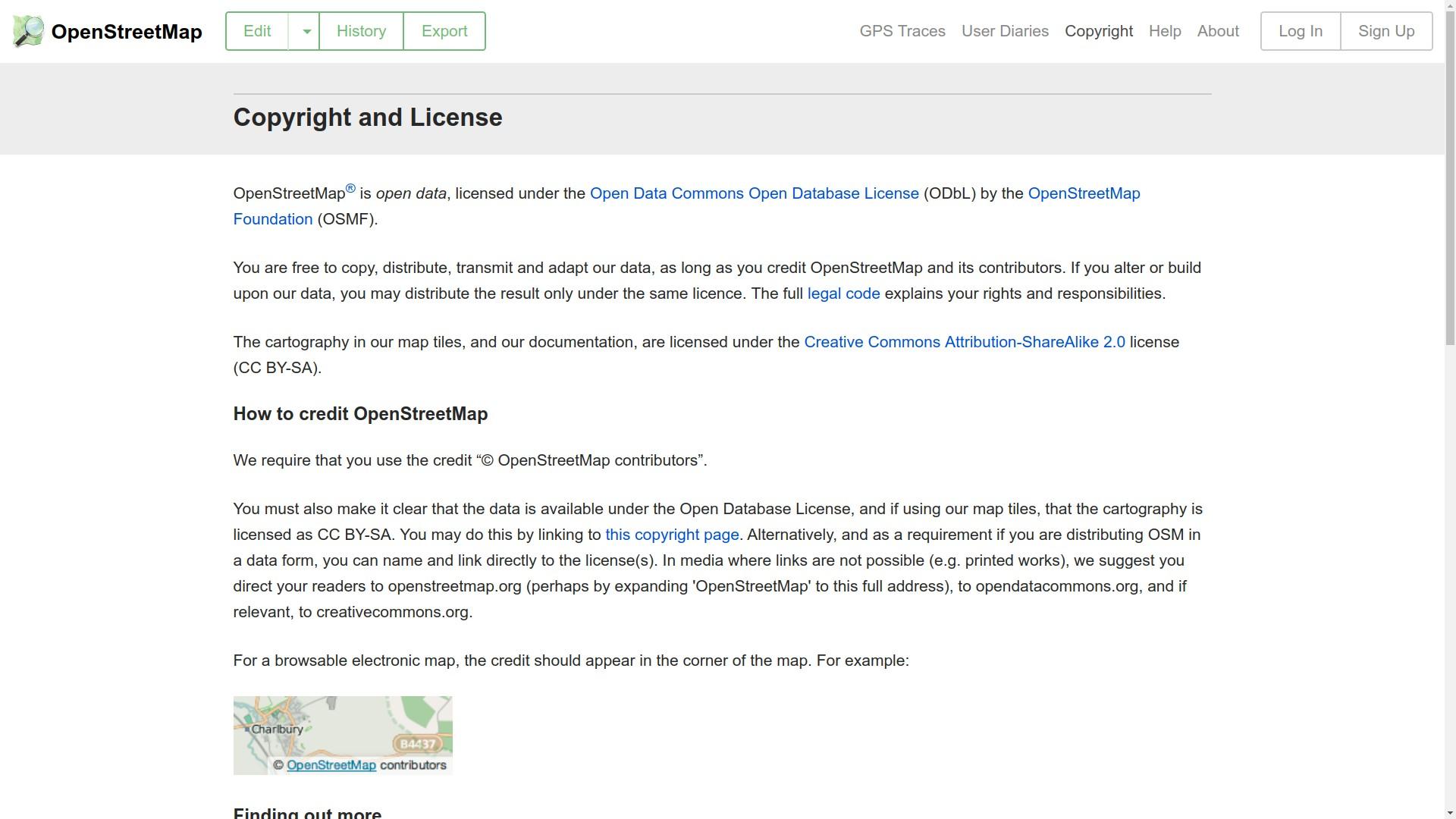 Άδεια χρήσης των δεδομένων του OSM