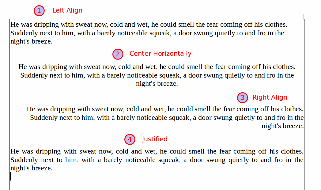 Paragraph alignment and spacing