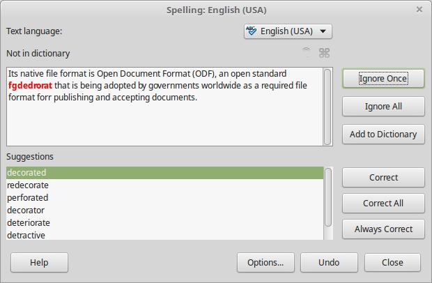 LibreOffice: Language tools