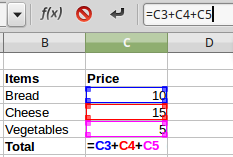 LibreOffice: Functions