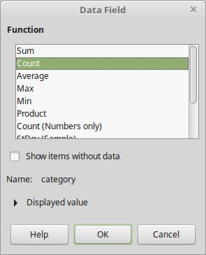 LibreOffice: Pivot Tables