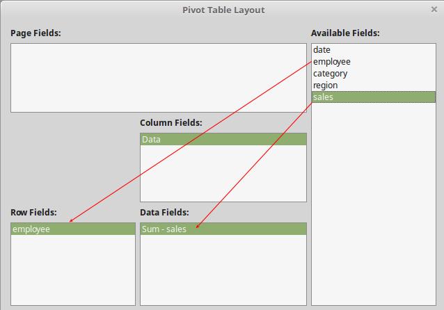 libreoffice pivot tables
