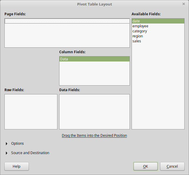LibreOffice: Pivot Tables