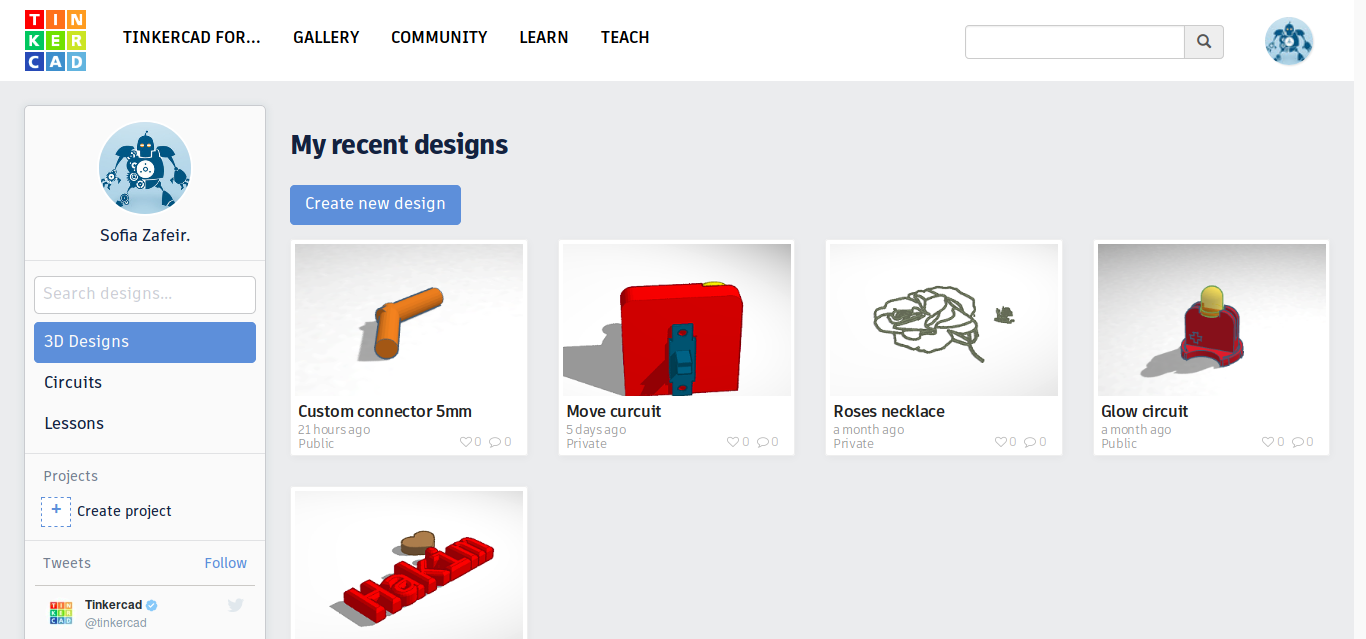 Tinkercad tutorial: Creating a new design